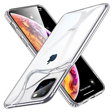 voordelige iPhone-hoesjes-hoesje Voor Apple iPhone 11 / iPhone 11 Pro / iPhone 11 Pro Max Schokbestendig / Waterbestendig / Transparant Achterkant Transparant TPU