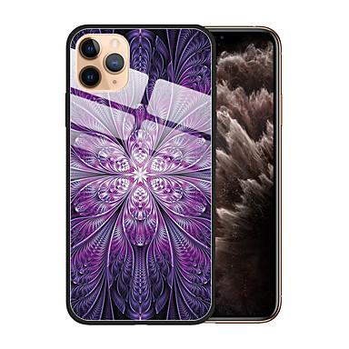 voordelige iPhone 6 Plus hoesjes-hoesje Voor Apple iPhone 11 / iPhone 11 Pro / iPhone 11 Pro Max Stofbestendig / Patroon Achterkant Bloem / Kleurgradatie TPU / Gehard glas