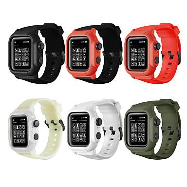 billige Apple Watch Vesker med Band-Veske med bånd Til Apple Watch Series 5/4/3/2/1 Silikon / Plast kompatibilitet Apple
