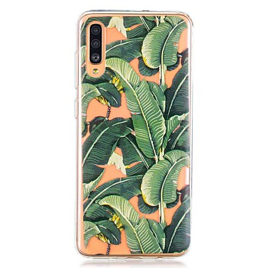 voordelige Galaxy A-serie hoesjes / covers-hoesje voor Samsung Galaxy A40 (2019) / Galaxy A50 (2019) / A70 (2019) Achterkant bananenblad TPU voor A10 (2019) / A20 (2019) / A30 (2019) / A8 (2018) / A7 (2018) / a6 (2018) / a5 (2017) / a3 (2017)