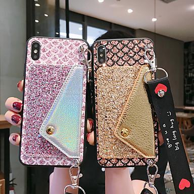 voordelige Huawei Mate hoesjes / covers-hoesje Voor Huawei Huawei P20 / Huawei P20 Pro / Huawei P20 lite Portemonnee / Glitterglans Achterkant Glitterglans TPU