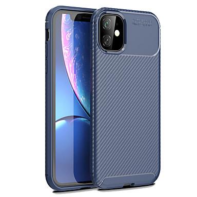 voordelige iPhone-hoesjes-hoesje Voor Apple iPhone 11 / iPhone 11 Pro / iPhone 11 Pro Max Mat Achterkant Effen TPU