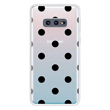 voordelige Galaxy S-serie hoesjes / covers-hoesje Voor Samsung Galaxy Galaxy S10 / Galaxy S10 Plus / Galaxy S10 E Ultradun / Transparant / Patroon Achterkant Geometrisch patroon TPU