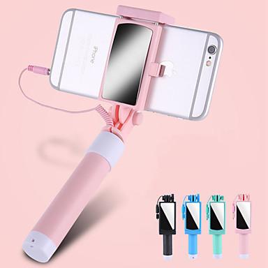 voordelige Bluetooth selfiestick-selfie stick bedraad verlengbaar max. lengte 67 cm voor universele android / ios universal
