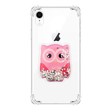 voordelige iPhone X hoesjes-hoesje Voor Apple iPhone XS / iPhone XR / iPhone XS Max Schokbestendig / Stromende vloeistof / Transparant Achterkant dier / Glitterglans TPU