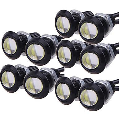 voordelige Autoverlichting overdag-10 stks dagrijverlichting bron backup achteruitrijparkeersignaallamp waterdicht 23mm led eagle eye diy cob 12 v