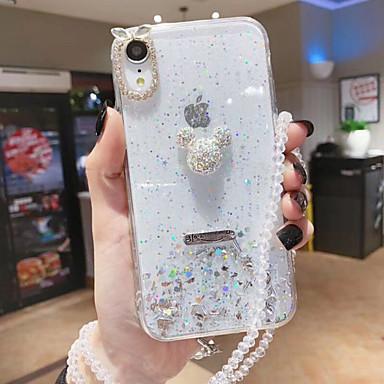 voordelige Galaxy S-serie hoesjes / covers-hoesje Voor Samsung Galaxy S9 / S9 Plus / S8 Plus Strass / Transparant / Glitterglans Achterkant Transparant / Hemel / Glitterglans TPU
