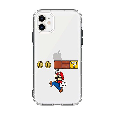 voordelige iPhone-hoesjes-hoesje Voor Apple iPhone 11 / iPhone 11 Pro / iPhone 11 Pro Max Ultradun / Transparant / Patroon Achterkant Transparant / Cartoon TPU