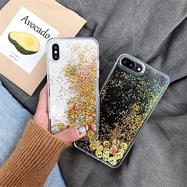 voordelige iPhone 6 hoesjes-hoesje Voor Apple iPhone XS / iPhone XR / iPhone XS Max Stromende vloeistof / Glitterglans Achterkant Cartoon TPU