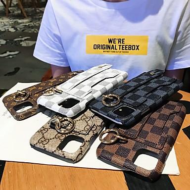 voordelige iPhone 7 hoesjes-hoesje Voor Apple iPhone 11 / iPhone 11 Pro / iPhone 11 Pro Max Kaarthouder Achterkant Tegel / Geometrisch patroon PU-nahka / TPU