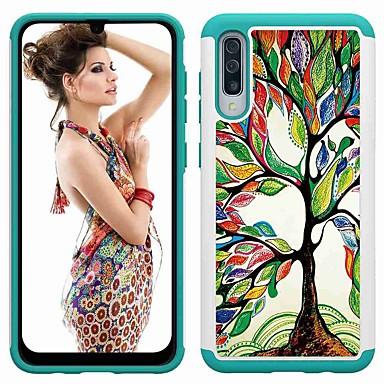 voordelige Galaxy A-serie hoesjes / covers-hoesje Voor Samsung Galaxy A5 (2017) / Galaxy A30 (2019) / Galaxy A50 (2019) Schokbestendig / Patroon Achterkant Boom PU-nahka