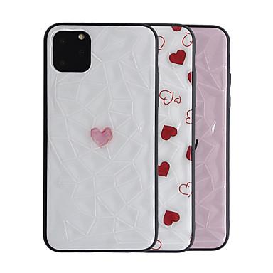 voordelige iPhone-hoesjes-hoesje Voor Apple iPhone 11 / iPhone 11 Pro / iPhone 11 Pro Max Ultradun / Patroon Achterkant Tegel / Hart TPU