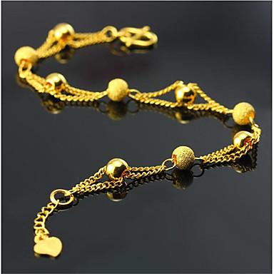 voordelige Heren Armband-Heren Dames Armbanden met ketting en sluiting meetkundig Liefde Modieus Verguld Armband sieraden Goud Voor Dagelijks Werk