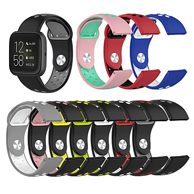 voordelige Smartwatch-accessoires-voor fitbit versa lite / versa se / versa 2 siliconenband polsband vervangende accessoirebanden
