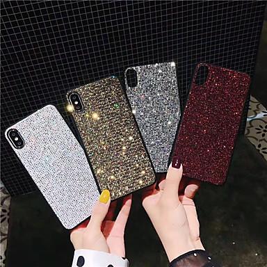 voordelige iPhone X hoesjes-hoesje Voor Apple iPhone 11 / iPhone 11 Pro / iPhone 11 Pro Max Glitterglans Achterkant Tegel / Glitterglans PU-nahka / TPU