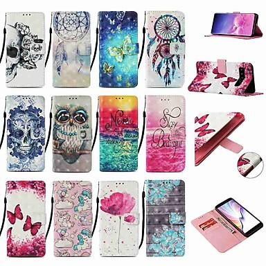 voordelige Galaxy Note-serie hoesjes / covers-hoesje Voor Samsung Galaxy Note 9 / Note 8 / Galaxy Note 10 Portemonnee / Kaarthouder / met standaard Volledig hoesje Vlinder PU-nahka / TPU
