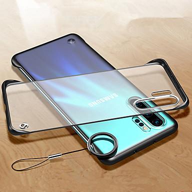 voordelige Galaxy Note-serie hoesjes / covers-frameloze transparante ring case voor Samsung Galaxy Note 10 Pro Note 9 Note 8 harde pc slanke matte beschermende achterkant