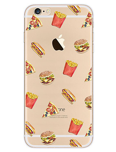 cheap iPhone Cases-Case For Apple iPhone 7 / iPhone 7 Plus / iPhone 6 Ultra-thin / Pattern Back Cover Food Soft TPU for iPhone 7 Plus / iPhone 7 / iPhone 6s Plus