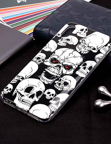 cheap iPhone Cases-Case For Apple iPhone XR / iPhone XS Max Glow in the Dark / Pattern Back Cover Skull Soft TPU for iPhone XS / iPhone XR / iPhone XS Max