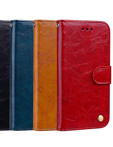 levne Yeni Gelenler-Carcasă Pro Apple iPhone XR / iPhone XS Max Peněženka / Pouzdro na karty / se stojánkem Celý kryt Jednobarevné Pevné PU kůže pro iPhone XS / iPhone XR / iPhone XS Max