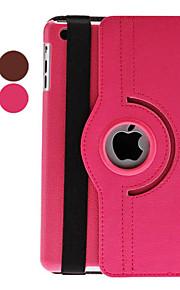 Maska Pentru iPad Mini 3/2/1 Cu Stand Auto Sleep / Wake Rotație 360 ° Carcasă Telefon Culoare solidă PU piele pentru iPad Mini 3/2/1