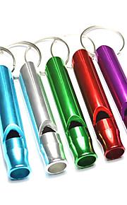 Alumnium Alloy Outdoor Survival Whistle(Random Color)