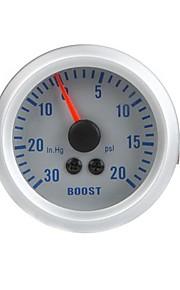 Turbo Boost  Vacuum Gauge Meter for Auto Car 2 52mm 0~30in.Hg 0~20PSI Orange Light