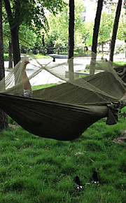 Camping Hammock with Mosquito Net Outdoor Camping Windproof, Portable, Ultra Light (UL) Canvas / Nylon Hunting, Fishing, Hiking for 2 person