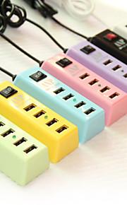 4-i-ett USB-hubbar oss laddare för iPhone 8 7 Samsung S8 S7 Ipad (5v 2.1a, 180cm)