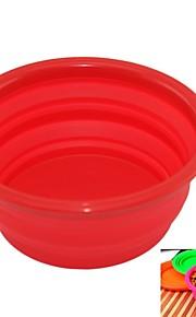 L Katze Hund Schalen & Wasser Flaschen Haustiere Schüsseln & Füttern Tragbar Klappbar Gelb Rot Grün Blau Rosa