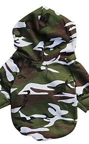 Katze Hund Kapuzenshirts Hundekleidung camuflaje Tarnfarbe Baumwolle Kostüm Für Haustiere Herrn Modisch