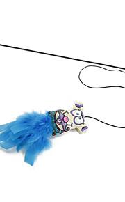 Cat Toy Pet Toys Teaser Stick Textile Sponge For Pets