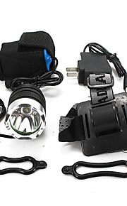Headlamps Bike Lights Headlight LED 1800 lm 3 Mode Cree XM-L T6 with Charger Impact Resistant Rechargeable Waterproof