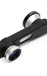 3에서 1 클립 온 스타일의 0.4 배 광각 렌즈 / 어안 렌즈 / 아이폰 6 (모듬 색상) 설정 매크로 렌즈