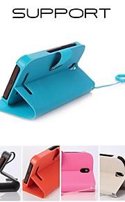 HTC t528d에 대한 홍보 일곱 웨이 시리즈 전화 가죽 케이스 (모듬 색상)