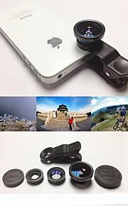 1 광각 렌즈 / 매크로 렌즈 / 180 물고기 눈 렌즈 / 키트 KLW 3 아이폰 5 / 6 / 아이 패드 및 다른 사람을위한 설정