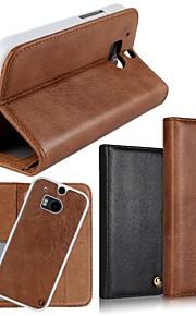 용 HTC케이스 카드 홀더 / 지갑 / 스탠드 / 플립 케이스 풀 바디 케이스 단색 하드 천연 가죽 HTC