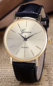 Mulheres Relógio de Moda Quartzo PU Banda Preta Branco Branco Preto