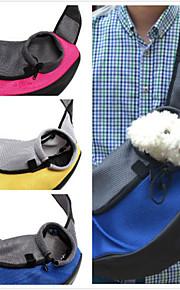 고양이 강아지 캐리어&여행용 배낭 전면 배낭 애완동물 바구니 솔리드 휴대용 통기성 옐로우 레드 그린 블루 애완 동물