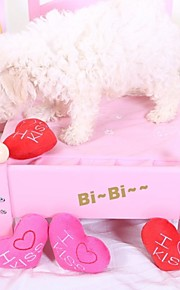 Brinquedos para roer Brinquedos Felpudos rangido Coração Têxtil Para Cachorro Cachorrinho