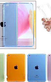 Etui Til Apple iPad Mini 4 iPad Mini 3/2/1 iPad 4/3/2 iPad Air 2 iPad Air Transparent Bagcover Helfarve Blødt TPU for iPad Mini 4 iPad