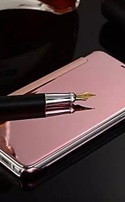 DE JI Case For Samsung Galaxy Samsung Galaxy Case Mirror / Flip Full Body Cases Solid Colored PC for S8 Plus / S8 / S7 edge