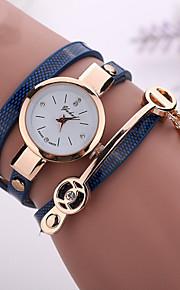 Dame Quartz Armbåndsur Imiteret Diamant Afslappet Ur PU Bånd Afslappet Bohemisk Mode Sort Hvid Blåt Rød