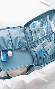 Reiseveske Toalettveske til reisen Kosmetikk Veske Bagasjeorganisator Vanntett Bærbar Hengende Multifunksjonell Reiseoppbevaring til Klær