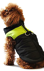 Dog Coat / Vest / Puffer / Down Jacket Dog Clothes Color Block Black / Pink / Black / Green / Black / Blue Cotton Costume For Pets Winter Men's / Women's Casual / Daily / Keep Warm