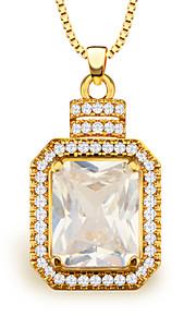 høj kvalitet zircon vedhæng kvinder / mænd vintage smykker gave 18K forgyldt mode afrikanske krystal halskæde p30102