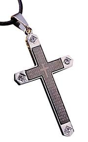 Herre Vedhæng Kors Titanium Stål Metal Mode Sej Smykker Til Hverdag