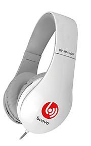 Beevo BV-HM760 ヘッドホン(ヘッドバンド型)Forメディアプレーヤー/タブレット / 携帯電話 / コンピュータWithマイク付き / DJ / ボリュームコントロール / ゲーム / スポーツ / ノイズキャンセ / Hi-Fi / 監視