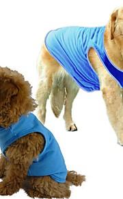 Cotton Solid Color Blue/Black/Purple/Orange/Green/Rose/Grey Summer Vest for Pets Dogs
