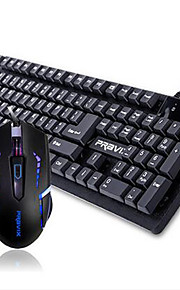Wired USB Mechanical Suspension Keyboard & Mouse